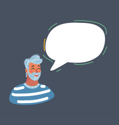 man face icons with colorful dialog speech bubble vector image