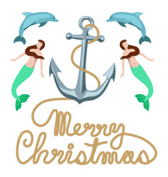 Merry christmas marine clip art for greeting cards vector