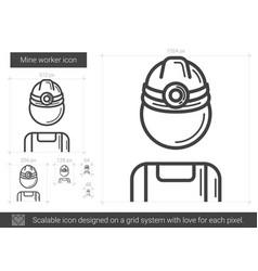 mine worker line icon vector image