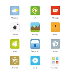 Mobile and tablet app icons 2 vector image