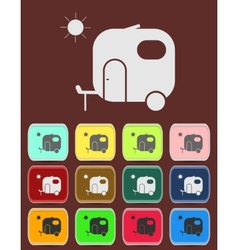 Motorhome car icon vector