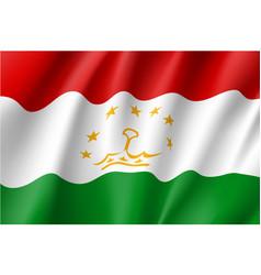 National flag of tajikistan republic vector