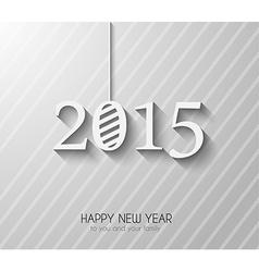 Original 2015 happy new year modern background vector image