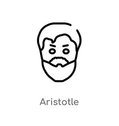 Outline aristotle icon isolated black simple line vector