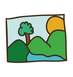 Picture of landscape icon vector