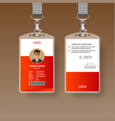 red awesome id card vector image