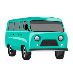 Retro vintage travel camper van vector