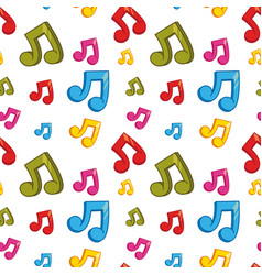 seamless background design with colorful music vector image