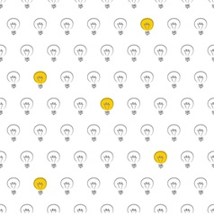 Seamless light bulb pattern texture or background vector image