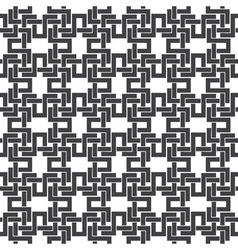 Seamless pattern of intersecting letters H vector image