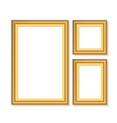 Set golden frames vector