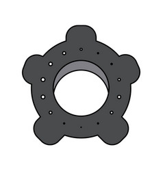 single gear icon image vector image