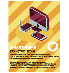 smart home color isometric poster vector image