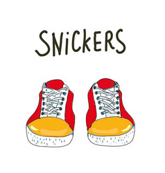 snickers background or card sketchy style graphic vector image