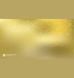 sparkling golden glitter lights on gold blurred vector image