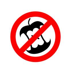 Stop littering ban garbage it is forbidden vector