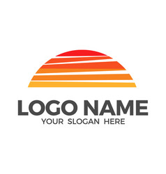 sun and clouds logo design vector image