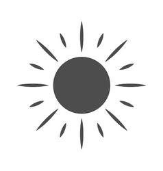Sun icon Symbol sunrise isolated vector
