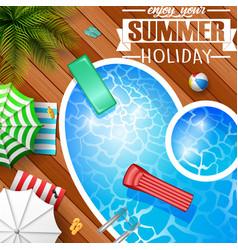 swimming pool top view palm treesmattress vector image