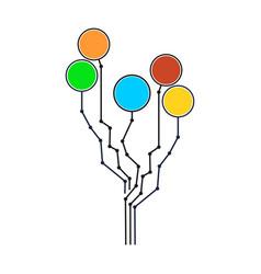 Technology tree design vector