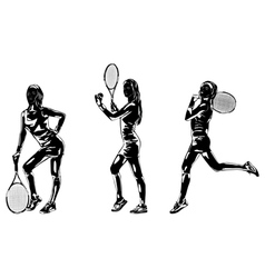 Tennis player women vector image