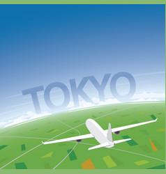 Tokyo flight destination vector
