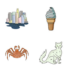 travel animal and other web icon in cartoon style vector image