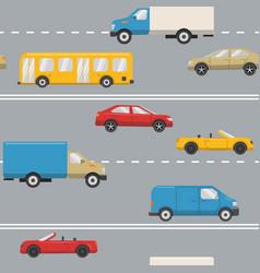 Urban transport seamless pattern vector