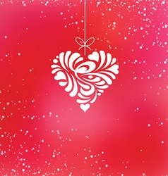 valentine hanging heart vector image