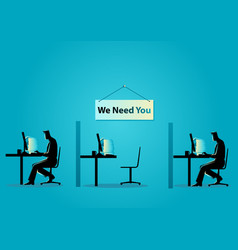 we need you job vacancy new recruitment trainee vector image