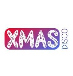 Xmas disco card vector