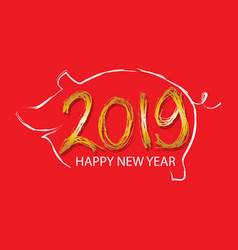 year of the pig chinese new year 2019 vector image