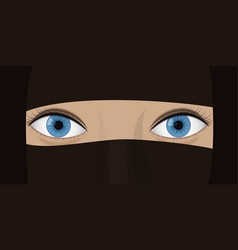 young woman in a chador vector image