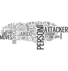 Aikido moves text word cloud concept vector