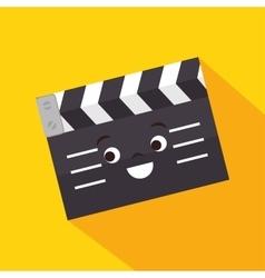 cartoon clapper movie film design vector image