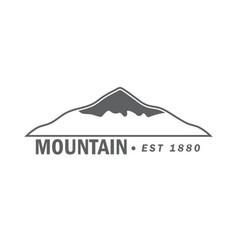 monochrome emblem of mountain vector image