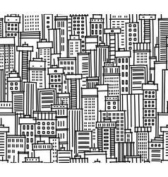 seamless pattern of city vector image