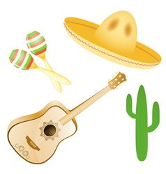 set of various Mexican images EPS10 vector image vector image