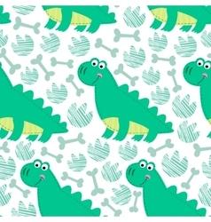 Dinosaur seamless pattern vector image vector image