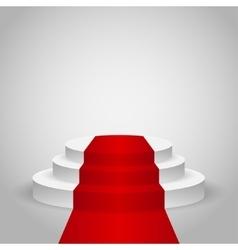 Empty stage podium vector image