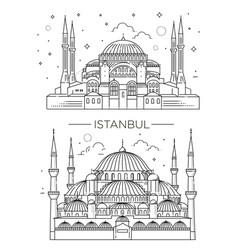 historic landmarks sightseeings famous vector image