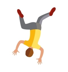 Parkour trick people extreme sport cartoon vector