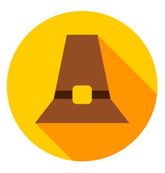 pilgrim hat circle icon vector image