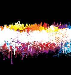 rainbow and crowd vector image vector image