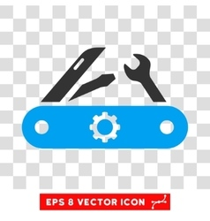 Swiss Knife Eps Icon vector image vector image