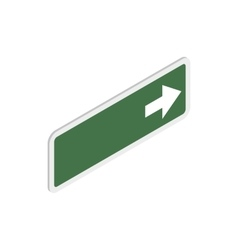 Arrow right road sign icon isometric 3d style vector image