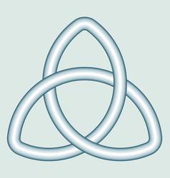 celtic trefoil knot vector image