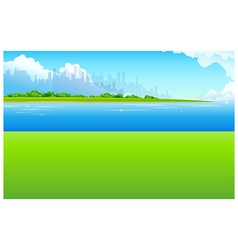 City Skyline Green landscape vector image