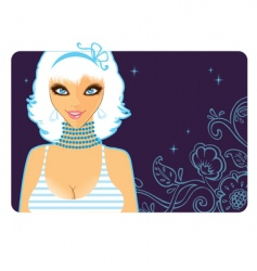 girl blue vector image vector image