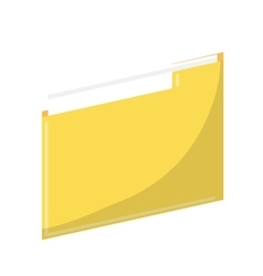 Isolated yellow file design vector
